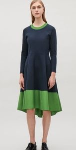 COS Panelled Navy Jersey Dress